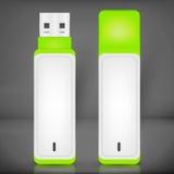 Wektorowa USB błysku przejażdżka odizolowywająca Obrazy Stock