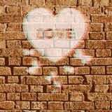 Wektorowa valentine brickwall ilustracja Zdjęcie Royalty Free