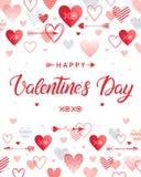 Wektorowa Walentynek dzień karta Zdjęcia Royalty Free
