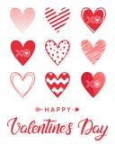 Wektorowa Walentynek dzień karta Obrazy Royalty Free