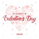 Wektorowa Walentynek dzień karta Zdjęcia Stock