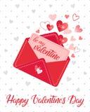 Wektorowa Walentynek dzień karta Obraz Stock