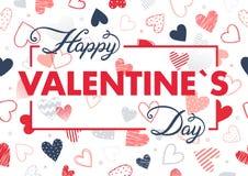 Wektorowa Walentynek dzień karta Obrazy Stock