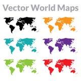 Wektorowa Światowa mapa Obrazy Stock