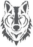Wektorowa wilk głowy sylwetka Odizolowywająca Na Białym tle ilustracja wektor