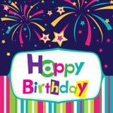 Wektorowa wszystkiego najlepszego z okazji urodzin karta Zdjęcia Royalty Free