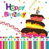 Wektorowa wszystkiego najlepszego z okazji urodzin karta Obraz Stock