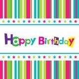 Wektorowa wszystkiego najlepszego z okazji urodzin karta Zdjęcie Royalty Free