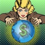 Wektorowa wystrzał sztuki globalnego biznesu pojęcia ilustracja Zdjęcia Royalty Free