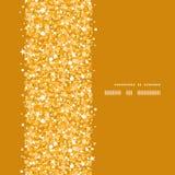Wektorowa złota błyszcząca błyskotliwości tekstury vertical rama Zdjęcie Stock