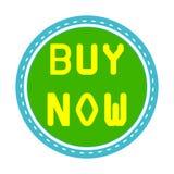 Wektorowa zakupu teraz znaka ikona - sklepowy etykietka symbol licytant royalty ilustracja
