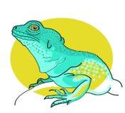 Wektorowa zielona jaszczurka Zdjęcia Royalty Free