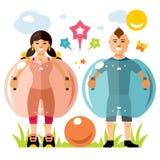 Wektorowa Zorbing piłka nożna Rekordowy piłka znak Dwa nadmuchiwany Zorb ilustracja wektor