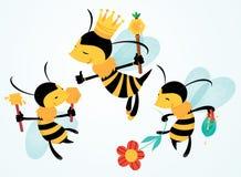 Wektorowe Śmieszne pszczół kreskówek ilustracje Zdjęcie Royalty Free