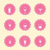 Wektorowe alkohol ikony Zdjęcia Stock