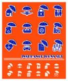 Wektorowe asekuracyjne ikony royalty ilustracja