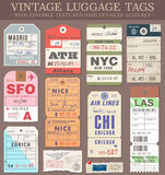 Wektorowe bagaż etykietki royalty ilustracja