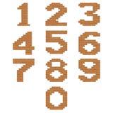 Wektorowe ceglane cyfry Obraz Stock