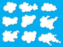 Wektorowe chmury Zdjęcia Stock