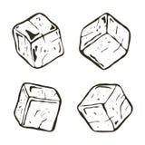 Wektorowe czarny i biały kostki lodu ilustracji