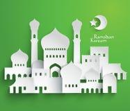 Wektorowe 3D muzułmanina papieru grafika royalty ilustracja