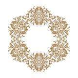 Wektorowe dekoracyjne kreskowej sztuki ramy dla projekta szablonu Elegancki element dla projekta, miejsce dla teksta Złotego kont royalty ilustracja