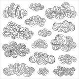 Wektorowe doodle chmury ilustracja wektor