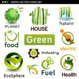 Wektorowe eco ikony Zdjęcie Royalty Free