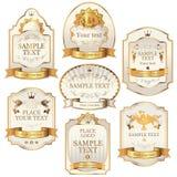 Wektorowe etykietki Fotografia Royalty Free