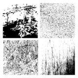 Wektorowe grunge tekstury ustawiać - abstrakcjonistyczni tła Obrazy Royalty Free