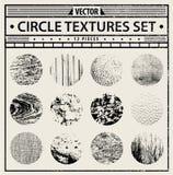 Wektorowe grunge tekstury ustawiać - abstrakcjonistyczni tła Obraz Stock