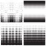 Wektorowe halftone kropki Czerni kropki na białym tle Zdjęcia Stock
