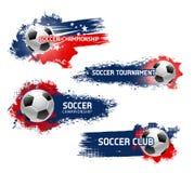 Wektorowe ikony dla futbolowego mistrzostwa Zdjęcia Royalty Free