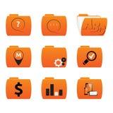 Wektorowe ikony falcówki z różnymi znakami Zdjęcie Royalty Free
