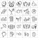 Wektorowe ikony ustawiać odizolowywać na białym tle Ilustracji