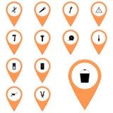 Wektorowe ikony ustawiają instrument/ikony Wektorowego wiadro, pail, Zdjęcie Stock