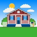 Wektorowe ilustracje chałupa dom ilustracji