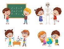 Wektorowe ilustracje dzieciaki Ma nauk lekcje ilustracji