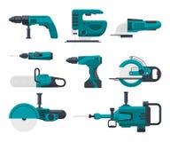 Wektorowe ilustracje elektryczni budów narzędzia ilustracji