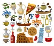 Wektorowe Italy ikony ustawiać royalty ilustracja