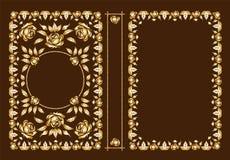 Wektorowe klasyczne książkowe pokrywy Dekoracyjna antyk rama lub rama dla drukować na książkowych pokrywach Ty możesz zmieniać ko ilustracji