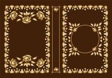 Wektorowe klasyczne książkowe pokrywy Dekoracyjna rocznik rama lub rama dla drukować na książkowych pokrywach Standardowy rozmiar ilustracja wektor