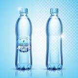 Wektorowe klingeryt butelki z wodą royalty ilustracja