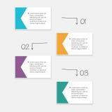 Wektorowe kolorowe ewidencyjne grafika dla twój biznesowych prezentacj Zdjęcie Royalty Free