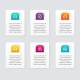 Wektorowe kolorowe ewidencyjne grafika dla twój biznesowych prezentacj Zdjęcie Stock
