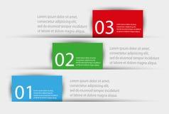 Wektorowe kolorowe ewidencyjne grafika dla twój biznesowych prezentacj Zdjęcia Royalty Free