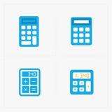 Wektorowe kolorowe kalkulator ikony ustawiać Zdjęcia Stock