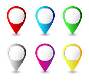 Wektorowe kolorowe szpilki Zdjęcia Stock