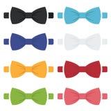 Wektorowe koloru łęku krawatów ikony ustawiać Zdjęcie Royalty Free