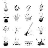 Wektorowe magiczne ikony ustawiać Fotografia Stock